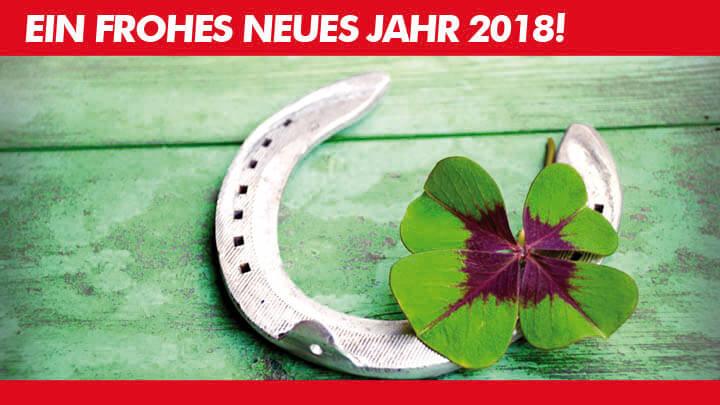 Die Besten Wünsche für 2018!